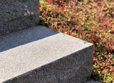 Granit trappa på nära håll